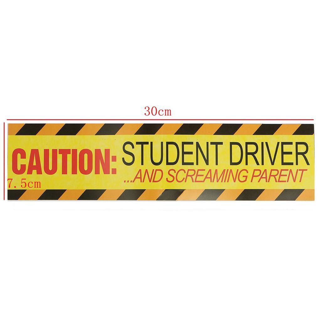 "/' Caution 12/"" x 3/"" Student Driver//Screaming Parent/' Magnet Bumper Stickers"
