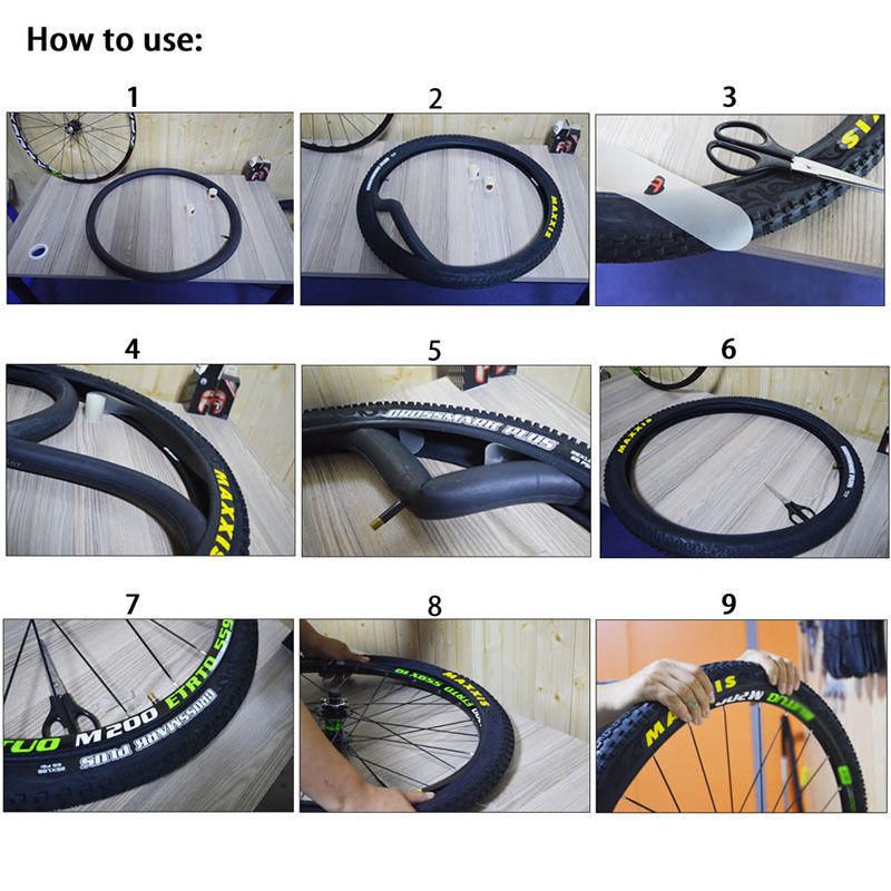 2pcs Bicycle Bike Tire Liner Anti-Puncture Proof Belt Tyre Protector Tape White