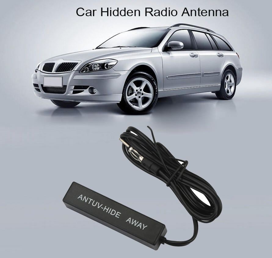 Auto Car Hidden Amplified Antenna 12V Electronic Stereo AM//FM  Radio  Universal