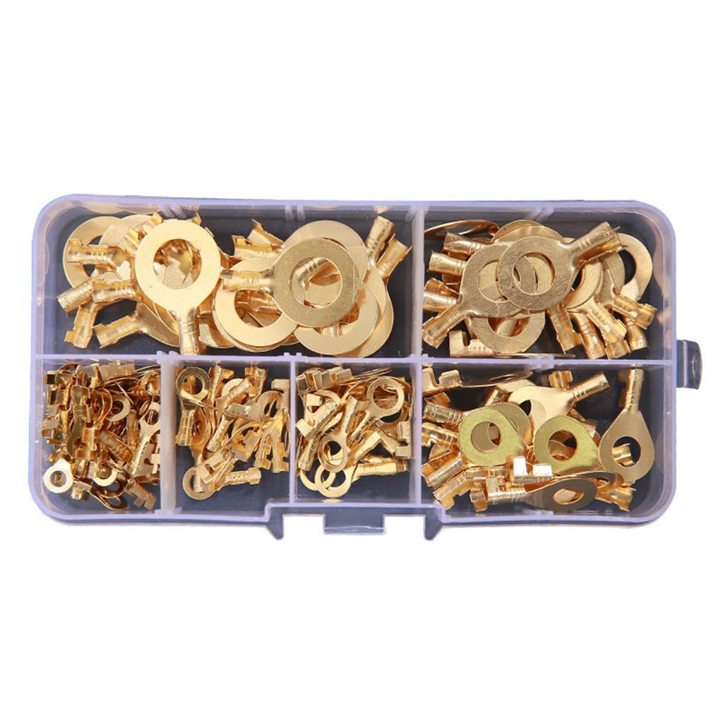 150pcs M3 M4 M5 M6 M8 M10 Crimp Copper Terminal Ring Cable Wire Connectors