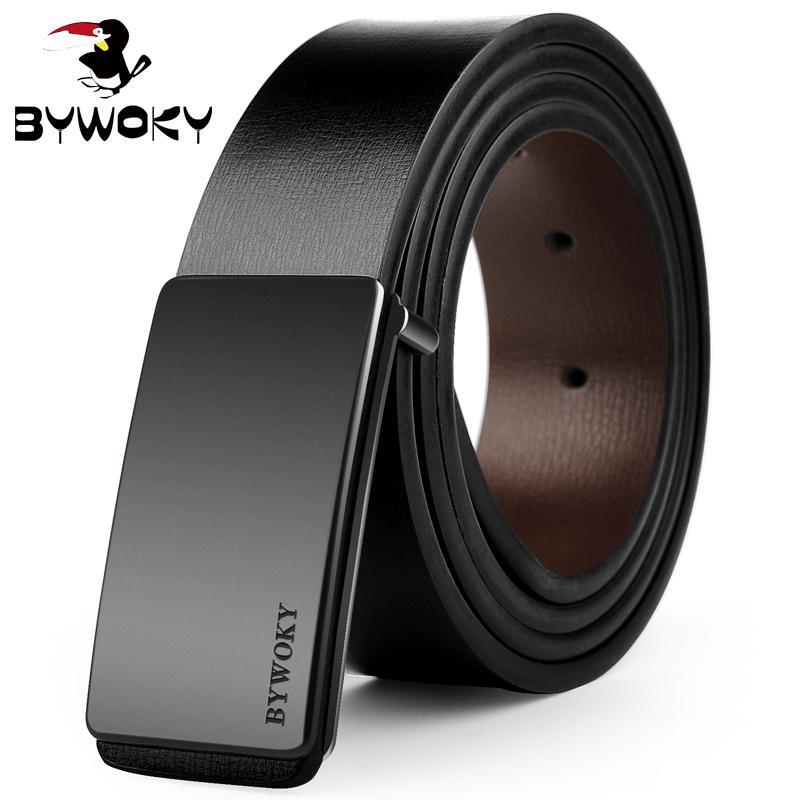 Men Automatic Buckle Leather luxury Belt Business Male Alloy buckle Belts for Men Ceinture Homme,K,130cm