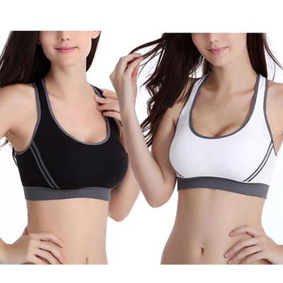 8e2e15c506004 Hot New Yoga Sports Bra Vest Comfort Stretch Bras Shapewear Padded(Black)M