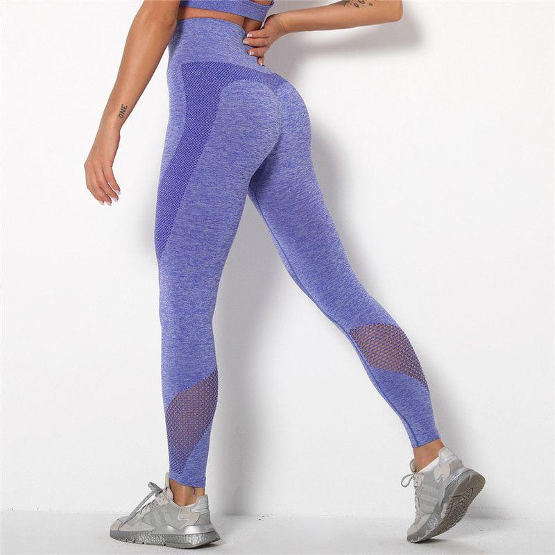 Women Seamless Yoga Leggings Fitness High Waist Butt Lift Elastic Pants Trousers