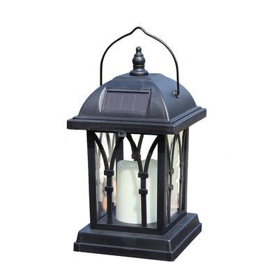 Solar LED Light Waterproof Candle Antique Lantern Shape Outdoor Home Hang Lamp