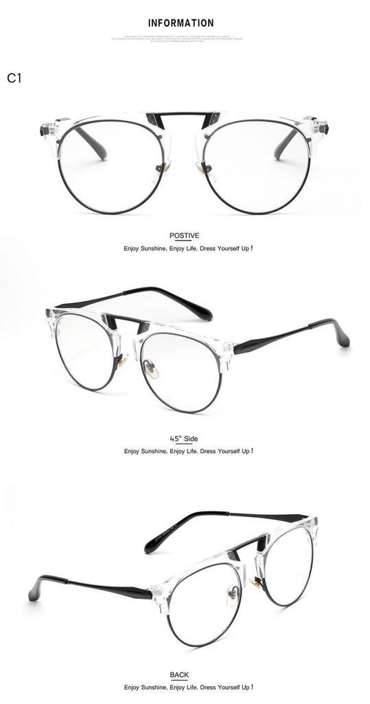 Legierung Mode Frauen Piloten Brille Rahmen Marke Designer Retro ...