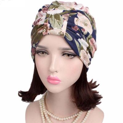 Womens Muslim Stretch Turban Hat Head Chemo Cap Hair Loss Head Wrap Cap Hats
