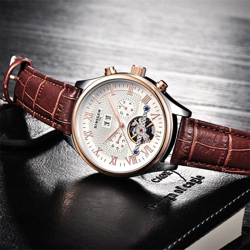 73ea52bc9cf3 Grandes hombres diseñador hombre mecánico BINSSAW relojes automático lujo  marca de fábrica superior de los hombres - comprar a precios bajos en la  tienda en ...