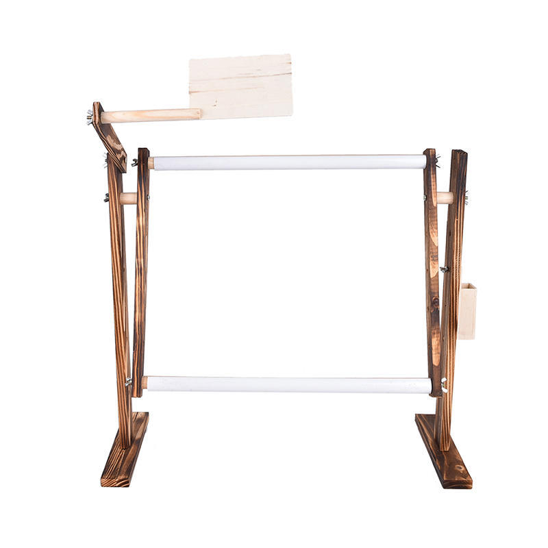 Soporte de costura vuelta mesa de madera bordado aro marco Cruz ...