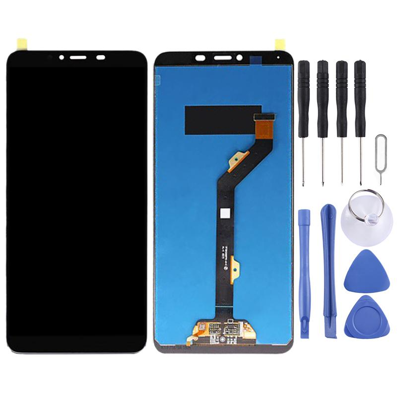 LCD Screen Mobile Phone and Digitizer Full Assembly for Tecno Spark Youth KA6 Color : Black Black