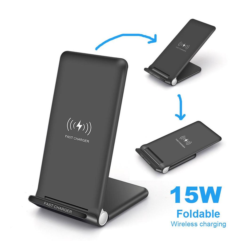 FDGAO 15W Fast Qi Wireless Charger Stand For iPhone 11 X XS XR 8 Samsung S20 S10 S9 Xiaomi Mi 10 9