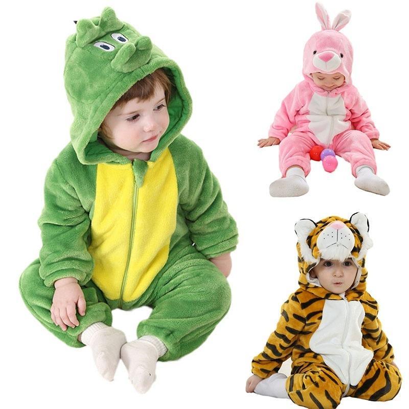 51fe4951d245 Унисекс животное Kigurumi Пижамы детские малышей шерсти косплей ...