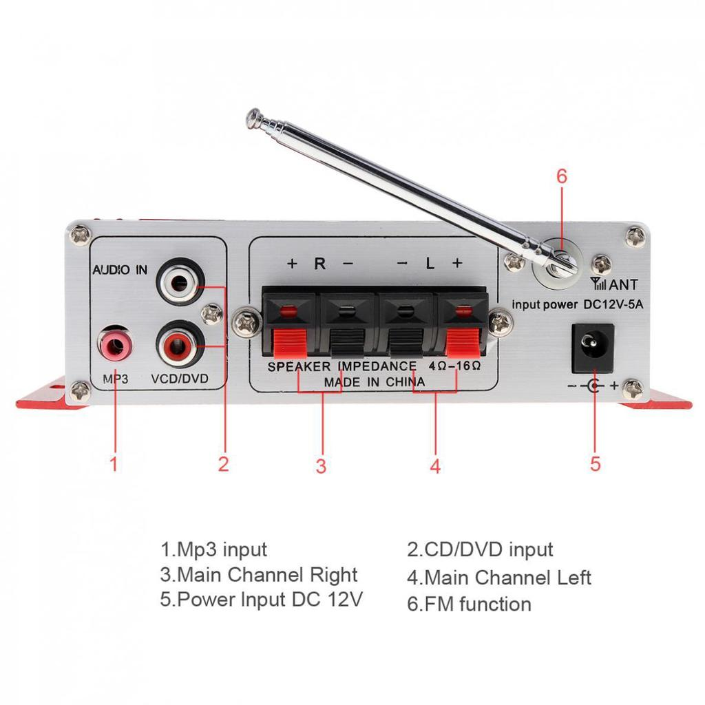 Hy 502 2ch Hi Fi Digital Audio Player Car Amplifier Fm Radio Stereo Circuit Buy At A Low Prices On Joom E Commerce Platform