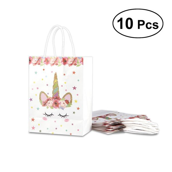 Greeting Cards Party Supply 10pcs Paper Bag Reusable Unicorn Gift Bags Candy Bags For Birthday Party Wedding Home Garden Mbln Org