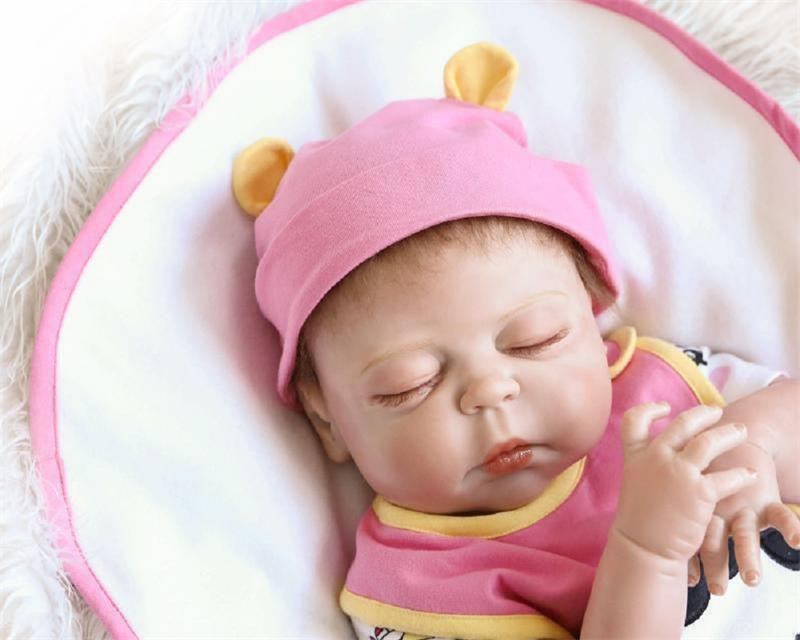 "Washable Reborn Dolls Boy 23/"" Full Body Silicone Toddler Dolls Newborn Baby Size"