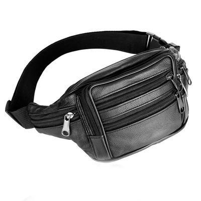 Men/'s Real Leather Waist Bag Bum Hip Loop Belt Purse Pouch Travel Fanny Pack