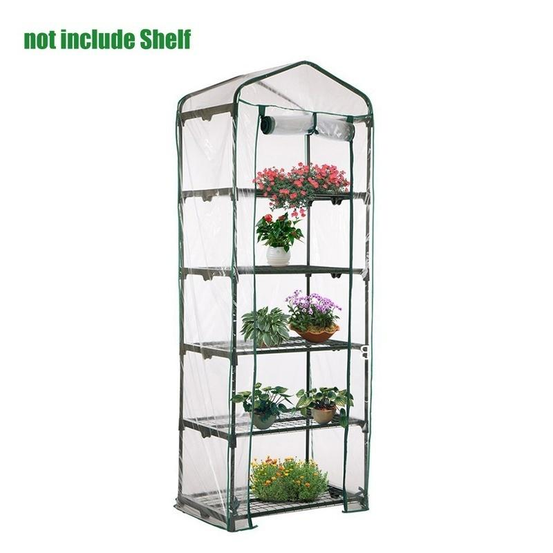 3//4//5 Tier  Garden Greenhouse Grow House Plant Vegetable Growbag PVC Cover