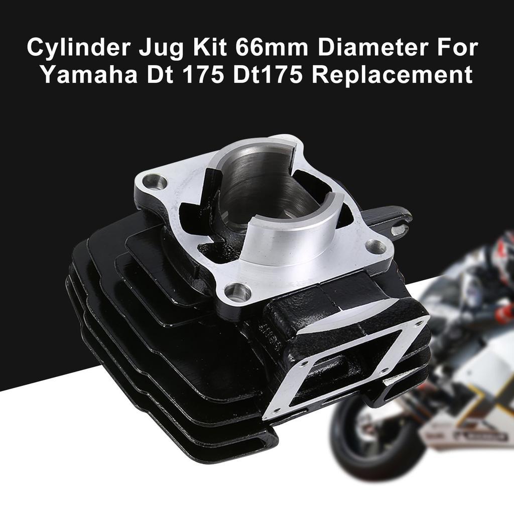 Cylinder Jug Kit 66mm Diameter For Yamaha Dt 175 Dt175 Replacement Black/&White