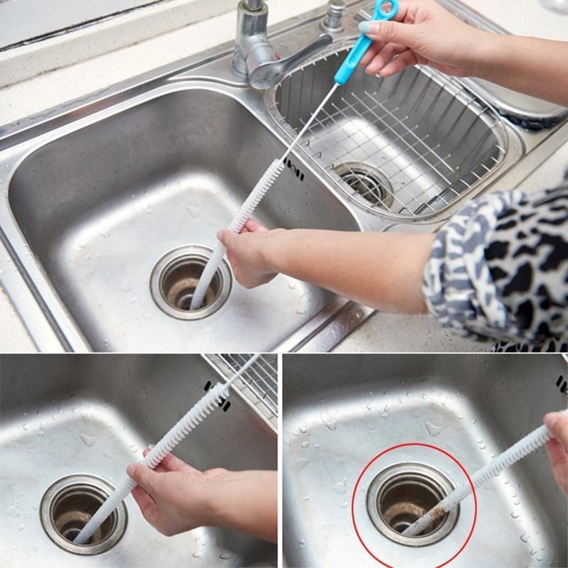 "Drain Unblocker Flexible Cleaner Hair Clog Sink Plug Hole Remover Tool 20/"""