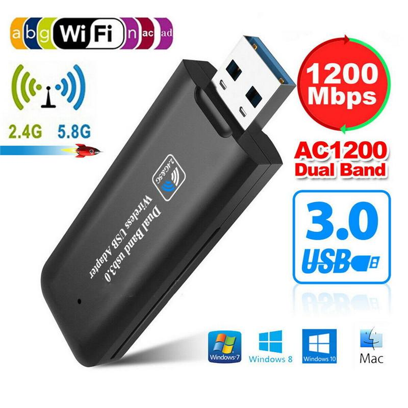 M-1200V USB 3.0 WiFi Adapter 1200Mbps 2.4GHz//5.8GHz WPS Wireless Network Card