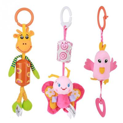 Owl Butterfly Musical Infant Baby Crib Plush Bed Hanging Rattle Stroller Toy BL3
