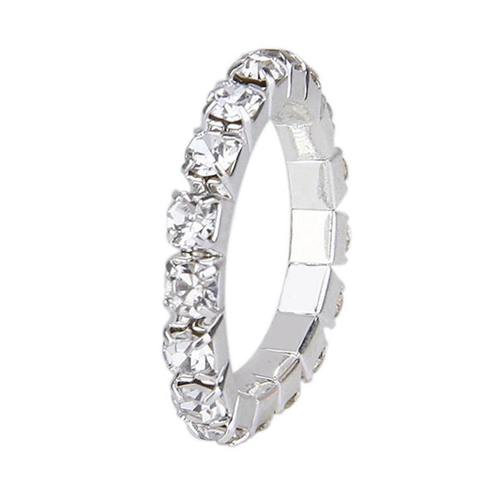 STRETCH TOE RING DIAMANTÉ RHINESTONE CRYSTAL ONE SIZE STRETCHY JEWELLERY