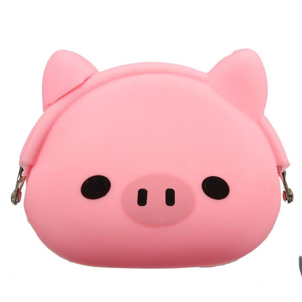 Women Girls Kawaii Cartoon Animal Silicone Jelly Coin Bag Purse Wallet Kids Gift