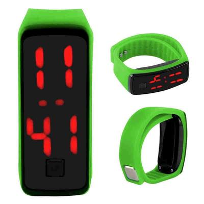 44418d280768 Reloj pulsera LED impermeable goma niños estudiantes hombres y mujeres  luminoso Universal Sport moda