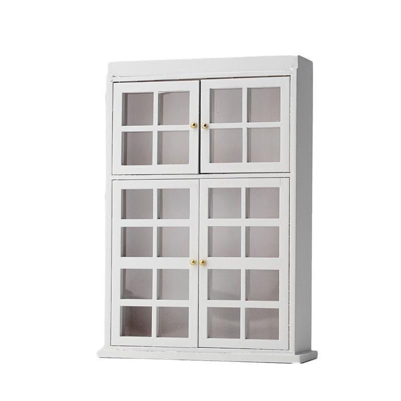Espejo De Nogal Casa de Muñecas Nuevo armario vitrina de China Muebles Miniatura 1:12