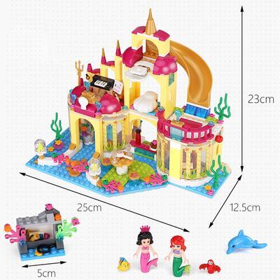 Princess Mermaid Ariel/'s Undersea Palace Model Building Blocks Assemble Toy