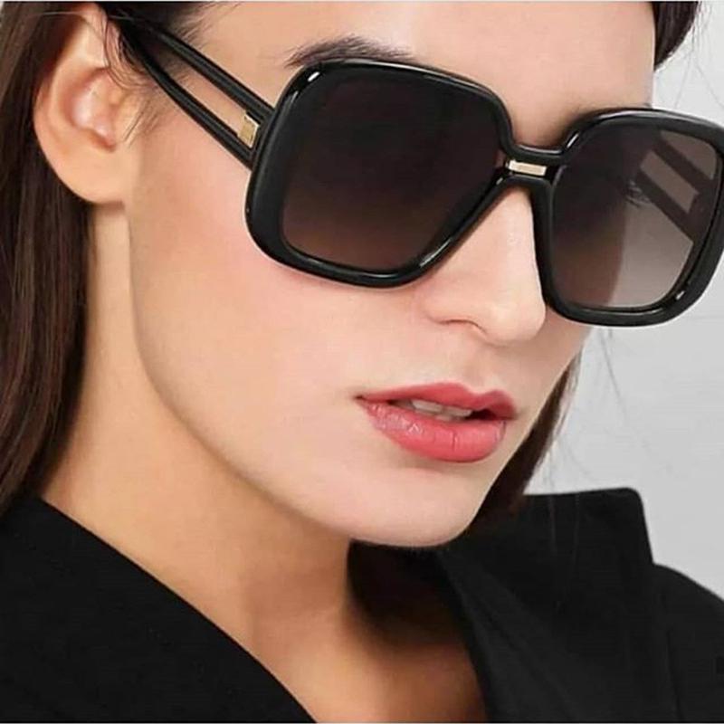 Ретро Большой кадр Женщины Мужская Очки Квадратная рамка Мода негабаритных Двойной цвет Холлоу очки – купить по низким ценам в интернет-магазине Joom
