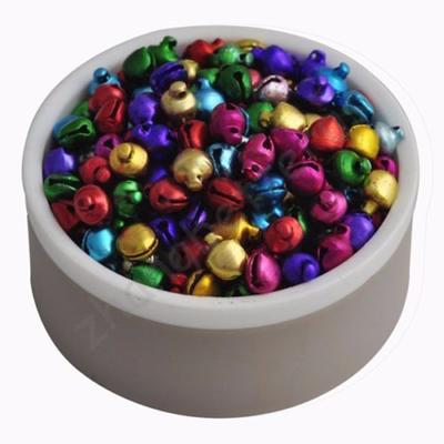 Peigu 200pcs Colorful Jingle Bells Christmas Holiday Party Decoration Craft Jewelry