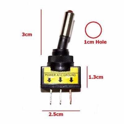 20pcs BLACK ON//OFF Rocker Toggle Switch 10A//125V 6A//250V AC 3 Pin Car Boat Light