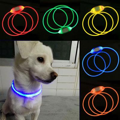 1pc Battery Led Dog Collar Anti-Lost/ Car Accident Avoid Collar For Dogs Puppies Dog Cats Collars Safety Luminous Pet Supplies