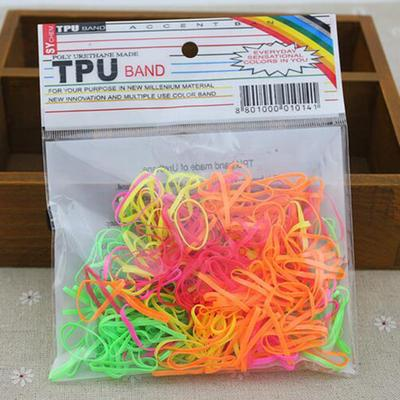 300Pcs Transparent  Rubber Braiding Hair Band Hairope Elastic Ponytail Holder MW