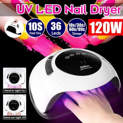 12036W LED UV Lamps Nail Dryer Fast Curing Speed Gel Light