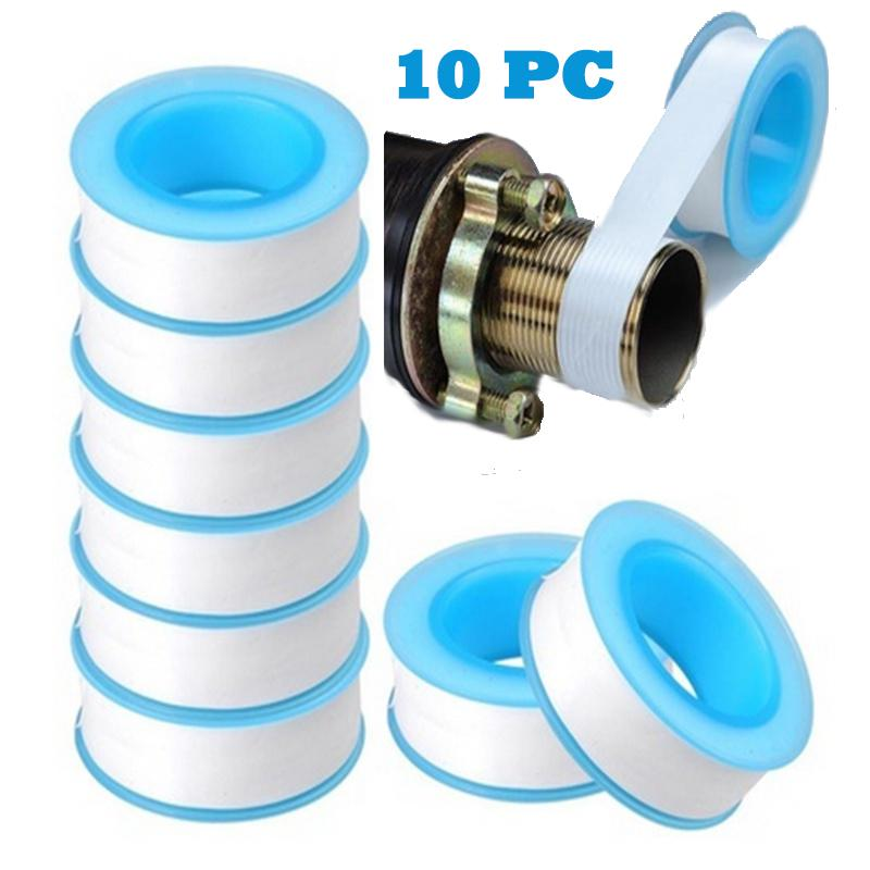 Crack Thread Seal Adhesive Plumber Fitting PTFE Tape Roll Pipe Water Plumbing