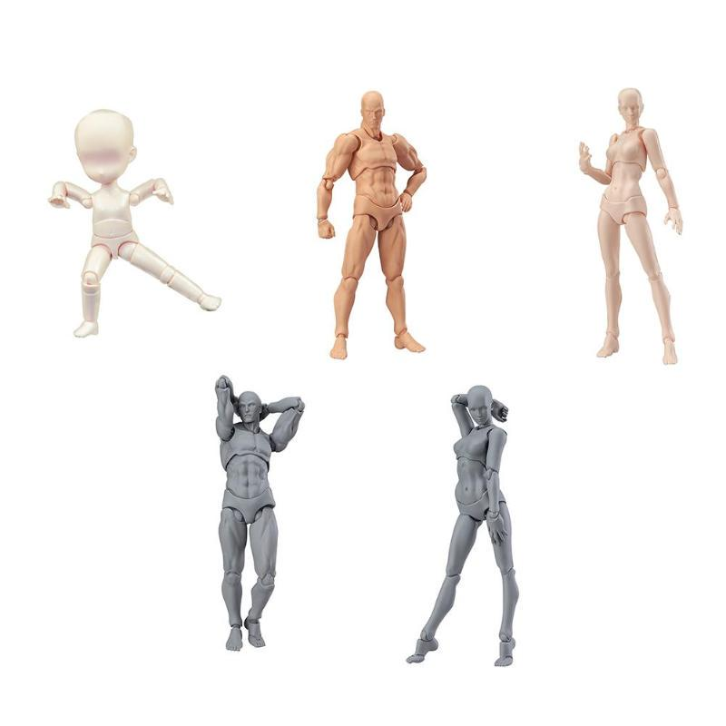 Figma Action Figure 14cm Black Doll DIY Archetype Doll PVC Movable