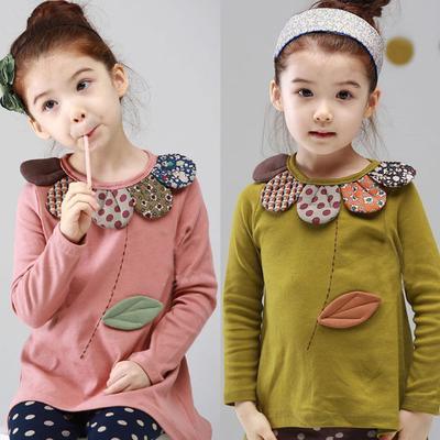 a94563394ea Малыш дети девочек мальчиков мультфильм цветок длинным рукавом топы блузке  пуловер одежда