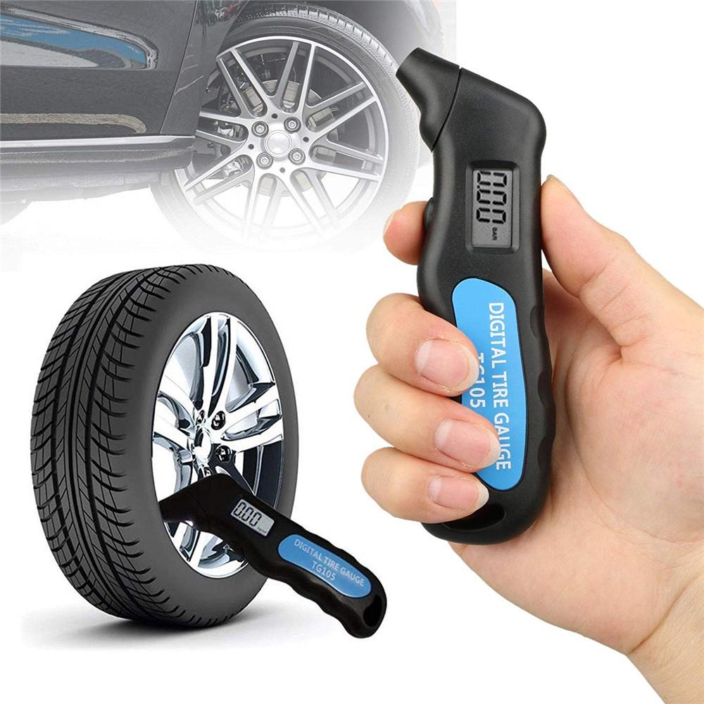 5 in 1 Digital LCD Tire Air Pressure Guage Meter Tester Tyre Gauge for Car Bike