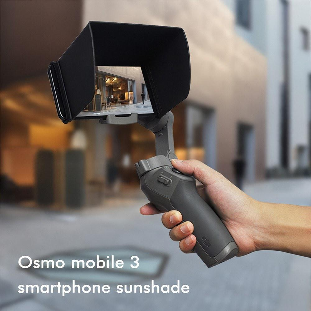 Black Foldable Sunshade Smartphone Sun Hood Accessory for DJI OM 4//OSMO Mobile 3