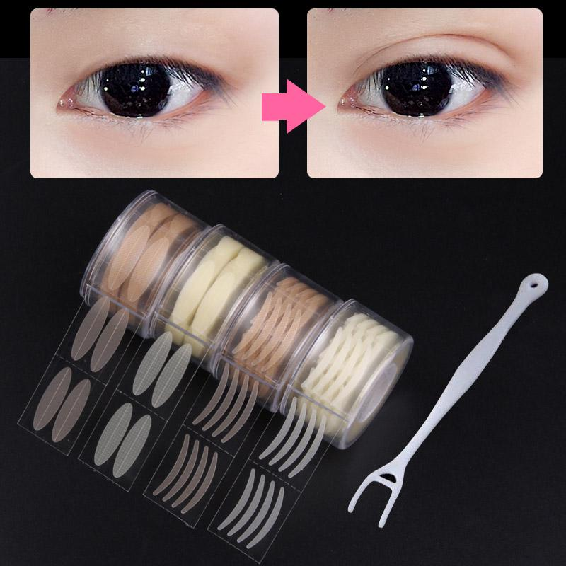 600Pc двойной веко ленты невидимый клей глаз Lift полос кружева наклейки макияж фото