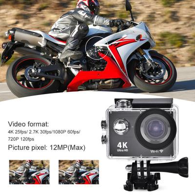 4K/30FPS Waterproof Camera 2 0in Screen 4K Ultra HD 1080P WiFi Sports  Camera DV Action Camcorder