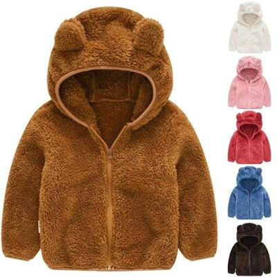Kids Boys Girls Hooded Coat Jacket Cartoon Sweatshirt Hoodie Autumn Winter Warm