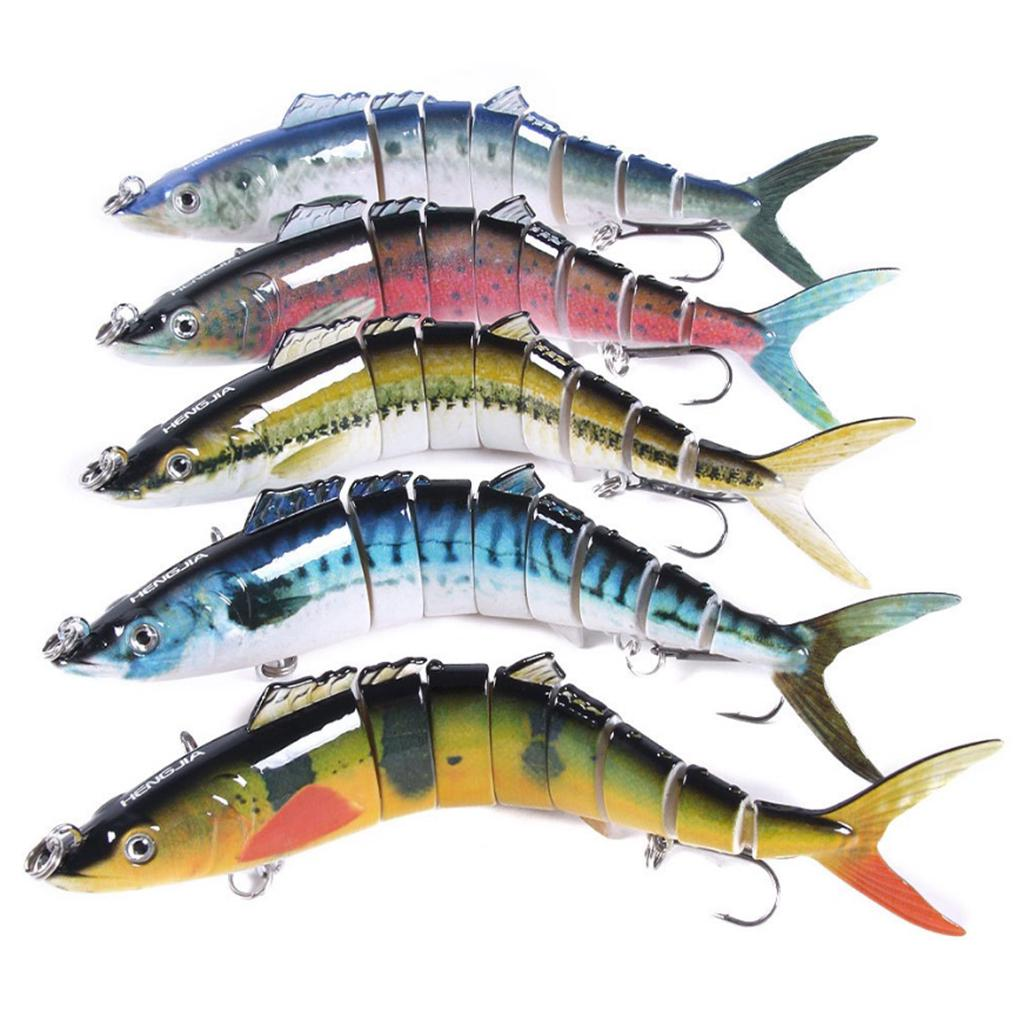 New Double Section Bionic Fishing Lure Crank Bait Tackle Hook Bass Durable Q2Q8