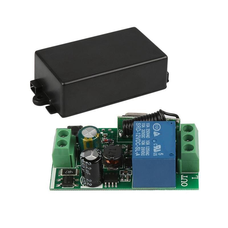 180-240V AC 433MHz 1CH Kanal Wireless RF Fernbedienung Schaltrelais selbst