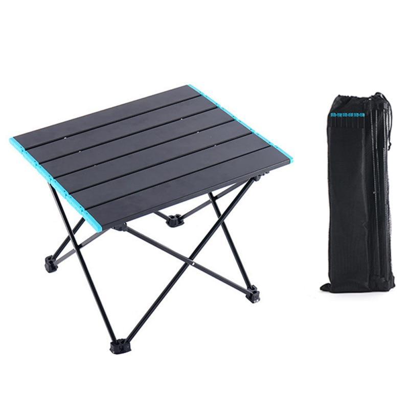 Outdoor Camp Mini Ultralight Portable Aluminium Alloy Folding Desk Dining Table