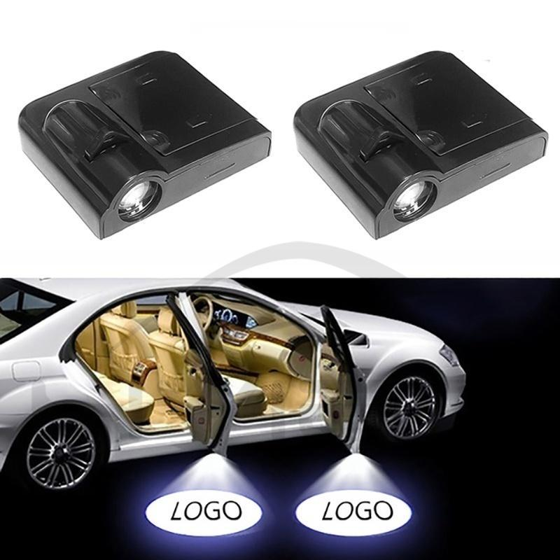 8 American Traditional Festiavals Easy Installed Welcome Laser Projector Pastable Logo Light with 16 Logo Film Slide 2Pcs for Car Door LED Projector Lights