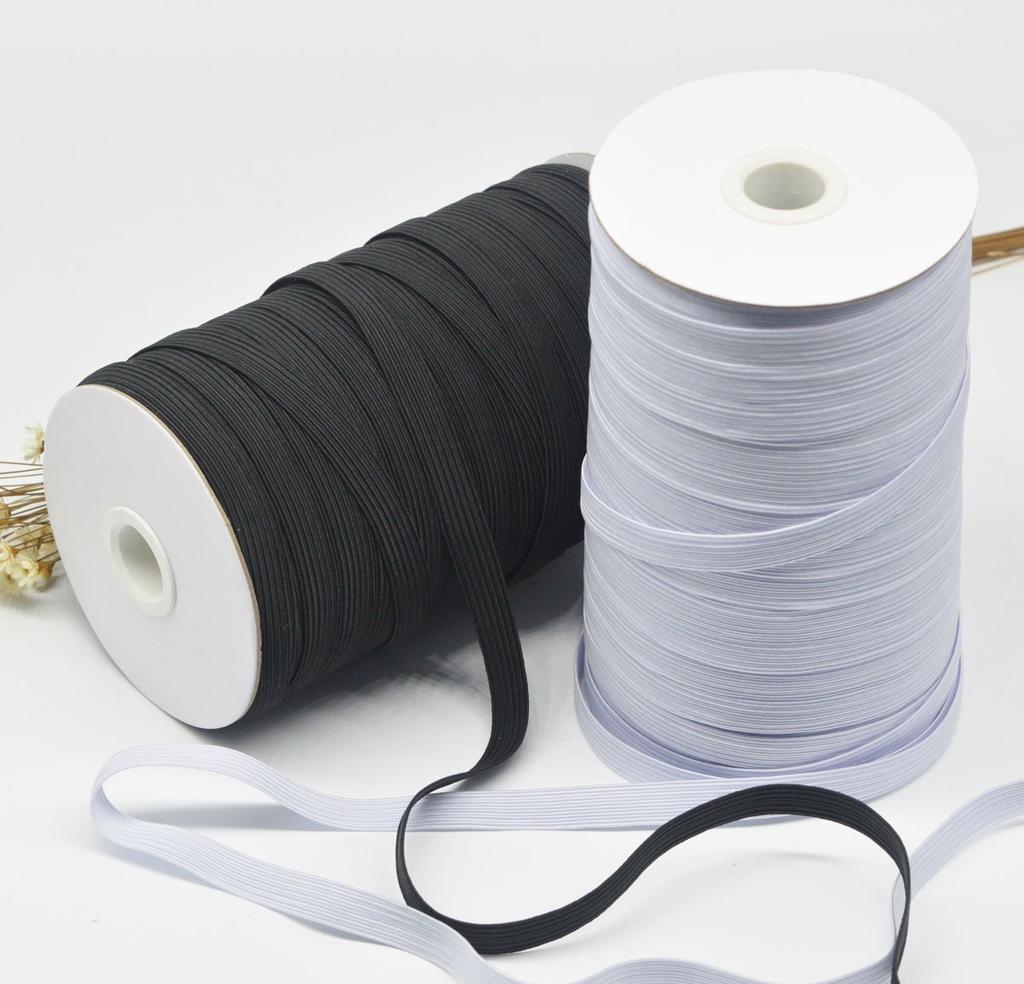 16m Elastic Band Spandex String Cord Braided Ribbon for DIY Earloop Sewing Knit