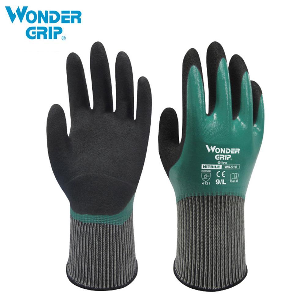 1Pair Gray Soft Latex Rubber Safety Work Gloves Builders Gardening Mechanic T