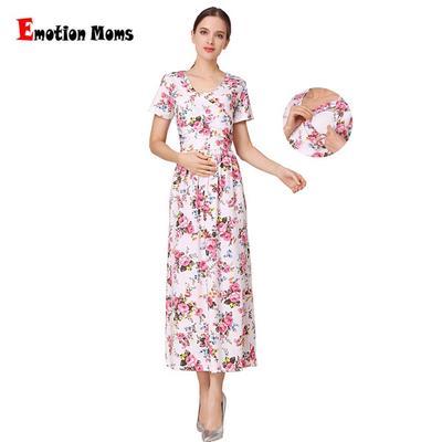 dd3d48056c238 Fashion Floral Clothes Maternity for Pregnancy Breastfeeding Dresses  Pregnant Women Nursing Dress